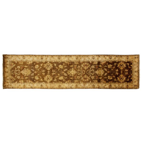 Ziegler Hand-Knotted Wool Beige/Ivory Area Rug by Exquisite Rugs