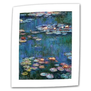 Water Lilies by Claude Monet Painting Print on Rolled Canvas by ArtWall