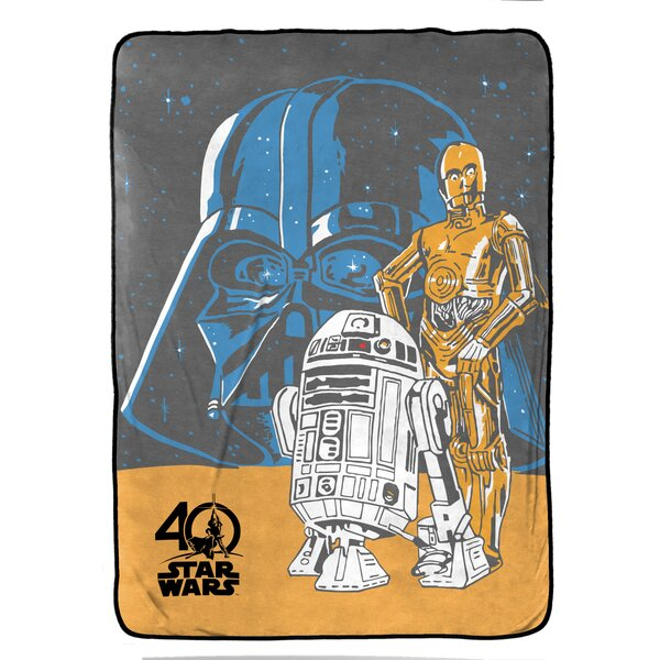 Darth and Droids Plush Twin Blanket by Star Wars