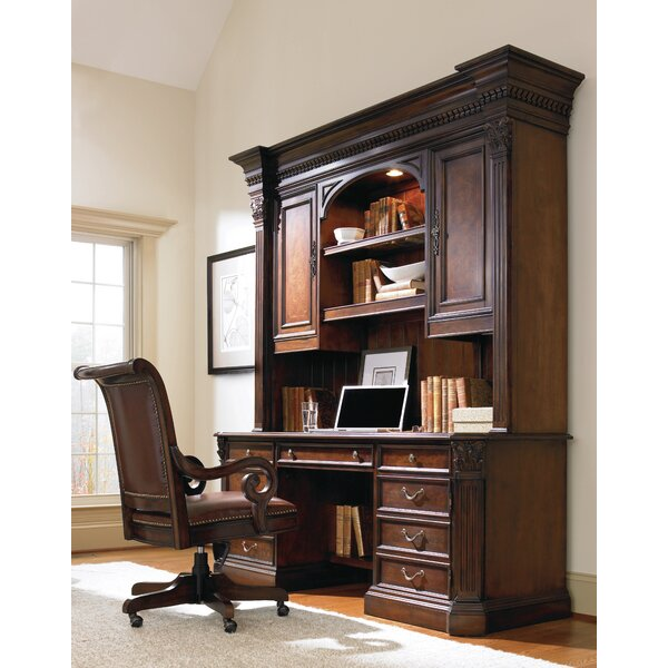 European Renaissance II Executive Desk  with Hutch by Hooker Furniture