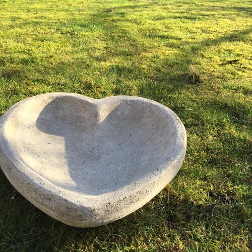 Heart Birdbath Dakota Fields