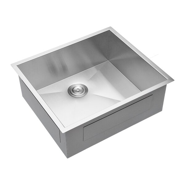 25 L x 22 W Undermount Kitchen Sink with Basket Strainer