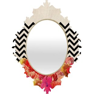 East Urban Home Chevron Flora Baroque Wall Mirror