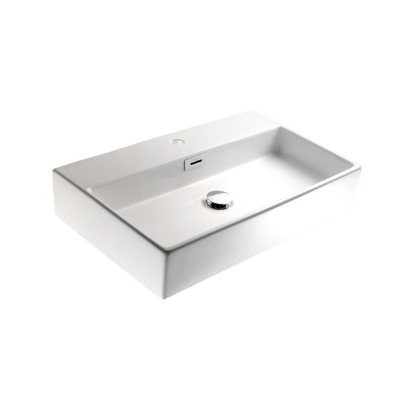 Quarelo Ceramic 20 Wall Mount Bathroom Sink with Overflow by WS Bath Collections