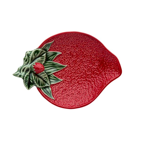 Strawberries Olive Dish (Set of 2) by Bordallo Pinheiro