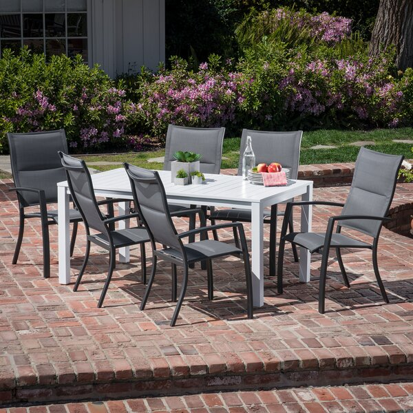 Frampton Cotterell 7 Piece Dining Set by Latitude Run
