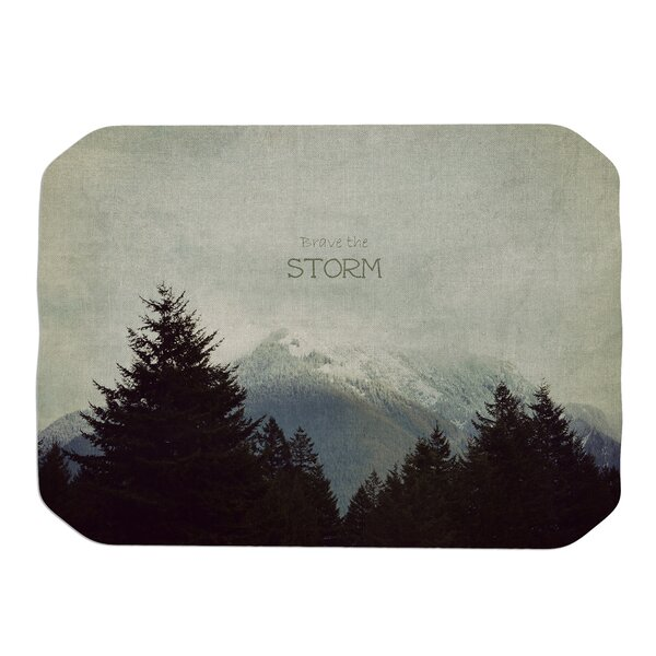 Robin Dickinson Brave the Storm Snow Mountain Placemat by East Urban Home