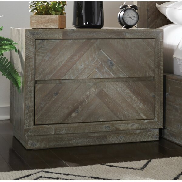 Roberge 2 Drawer Nightstand by Union Rustic