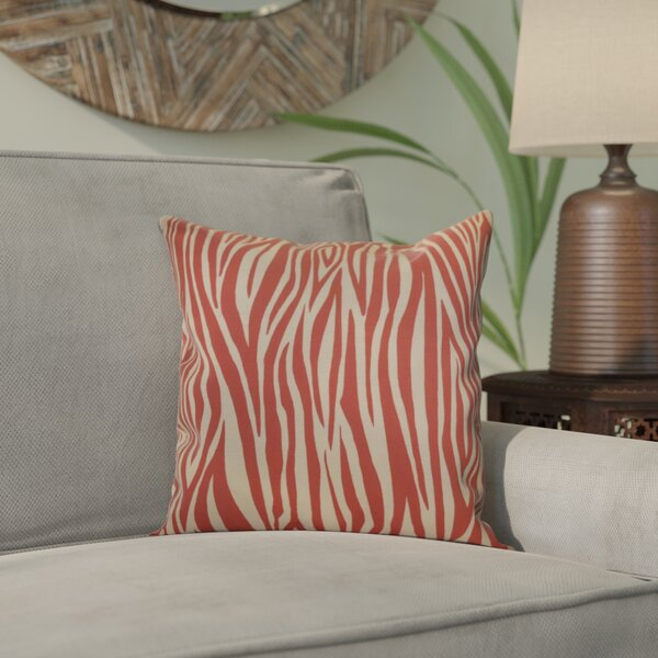Kam Wood Striped Geometric Throw Pillow By Bloomsbury Market.