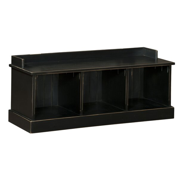 Springboro Wood Storage Bench by August Grove