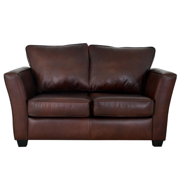 Bridgeport Leather Loveseat by Westland and Birch