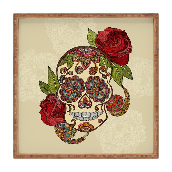 Sugar Skull Square Tray by East Urban Home