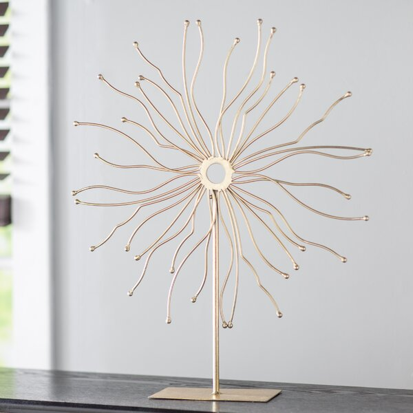 Soft Gold Metal Table Sculpture by World Menagerie