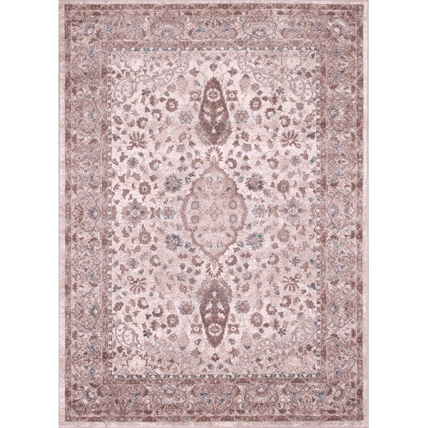 Aurore Traditional Style Rectangle Tusk Area Rug by Darby Home Co
