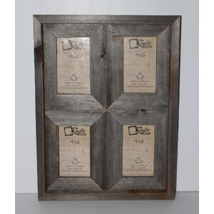 Ashbaugh Rustic Reclaimed Barn Wood Collage Picture Frame