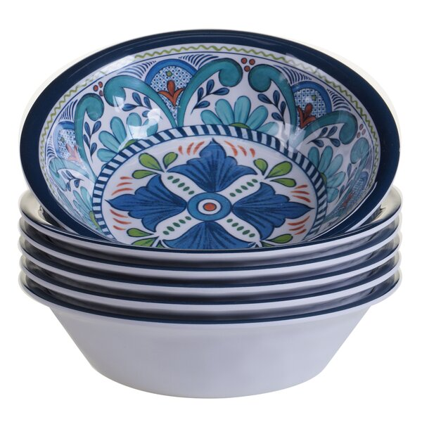 Talavera Heavy Weight Melamine Salad Bowl (Set of 6) by Certified International