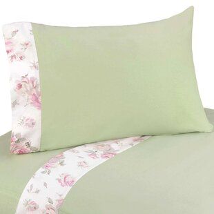 Riley's Roses 3 Piece 100% Cotton Twin Sheet Set By Sweet Jojo Designs