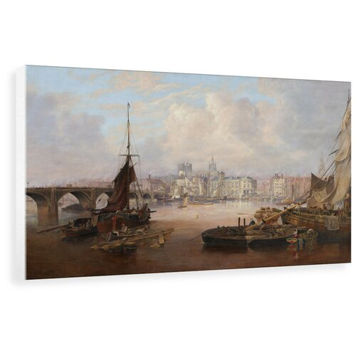 A View of Newcastle Painting East Urban Home Format: Wrapped Canvas, Size: 37.6 cm H x 60 cm W x 3.8 cm D