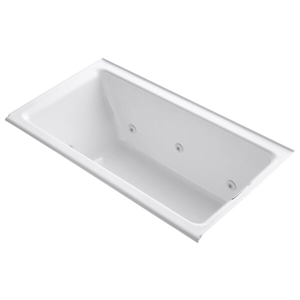 Tea-For-Two Alcove Whirlpool with Right-Hand Drain and Heater without Trim by Kohler