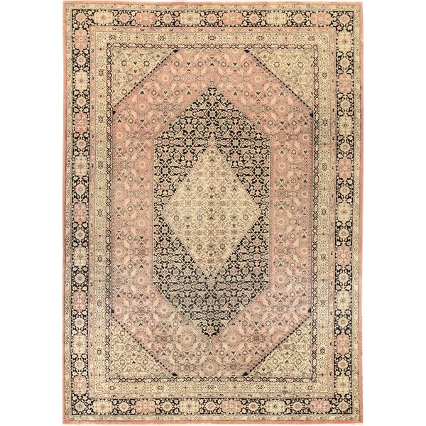One-of-a-Kind Persian Hand-Knotted Wool Rose/Beige Area Rug by Bokara Rug Co., Inc.