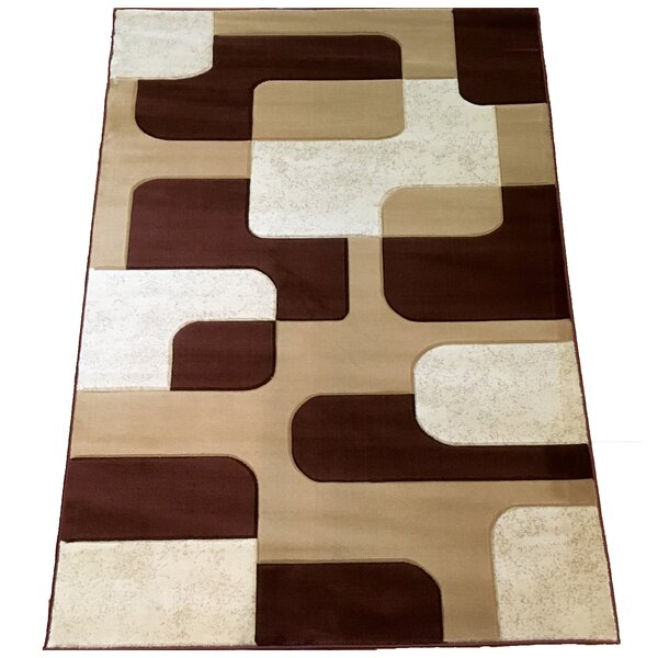 Hand-Carved Brown Area Rug by Brady Home