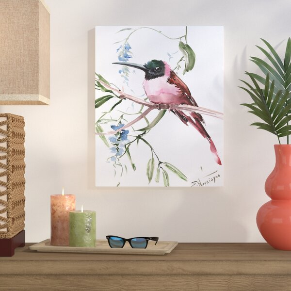 Pink Bee Eater Painting Print on Gallery Wrapped Canvas by Bay Isle Home