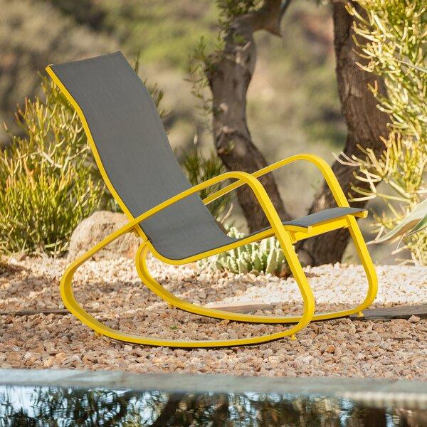Great Varick Gallery Bissett Aluminum Porch Deck Patio Rocking Chair U0026 Reviews |  Wayfair.ca