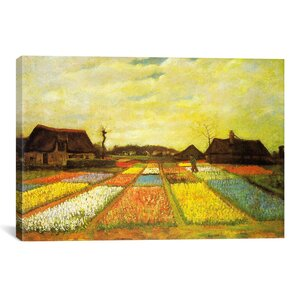 'Tulpenfelder (Tulip Fields)' by Vincent Van Gogh Painting Print on Canvas by iCanvas