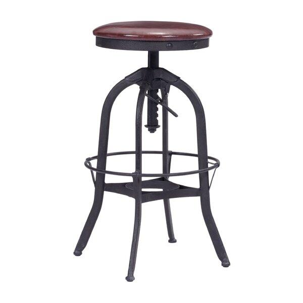 Wrenn Adjustable Height Swivel Bar Stool by Brayden Studio