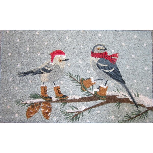 Chickadee with Boots Doormat by Mistletoe and Co.