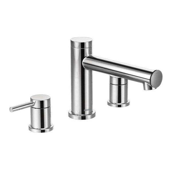 Align Two Handle Deck Mount Roman Tub Faucet Trim by Moen
