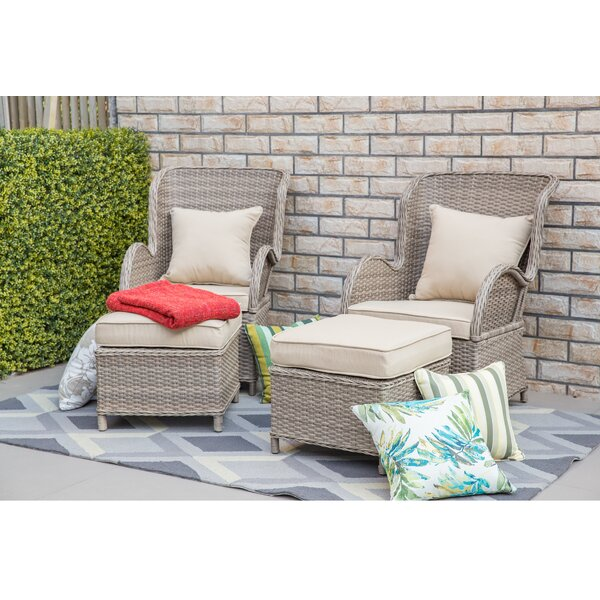 Virginia Patio Chair With Cushion By One Allium Way by One Allium Way Design