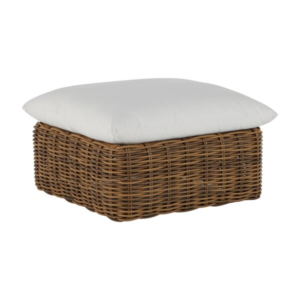 Montecito Woven Outdoor Ottoman with Cushion by Summer Classics