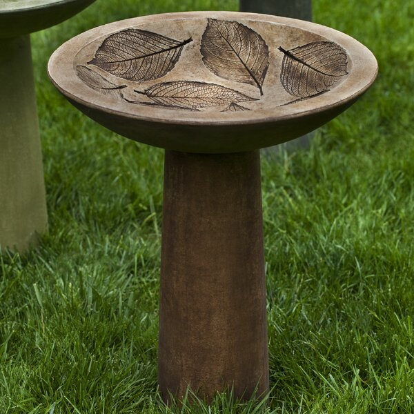 Hydrangea Leaf Birdbath by Campania International