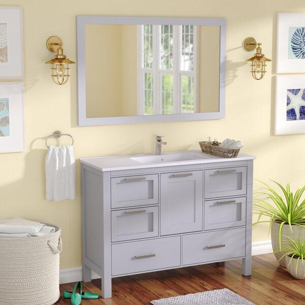 Andre 48 Single Bathroom Vanity Set with Mirror by Longshore Tides