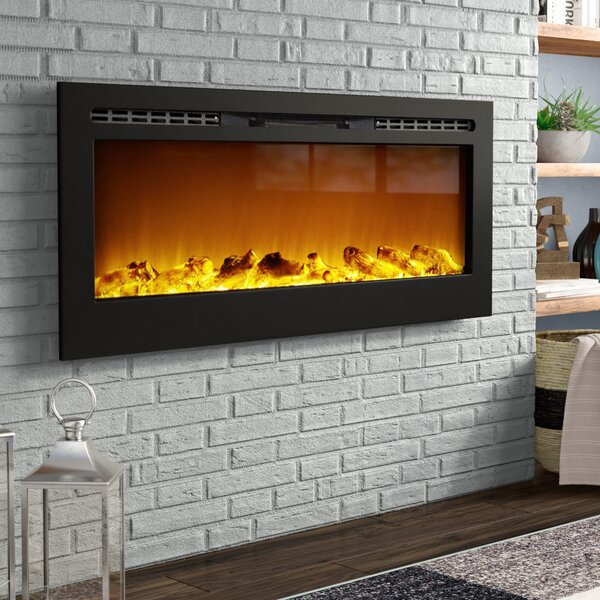 Bettie Wall Mounted Electric Fireplace by Wade Log