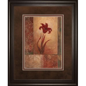 Lily Silhouette by Vivian Flasch Framed Painting Print by Classy Art Wholesalers