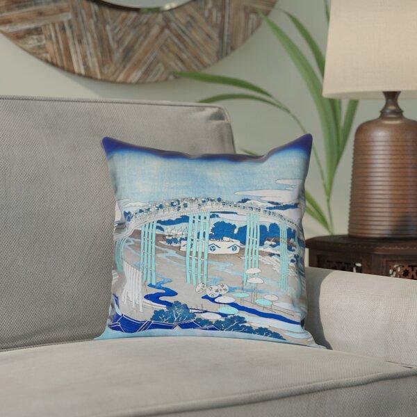 Enya Japanese Bridge Outdoor Throw Pillow