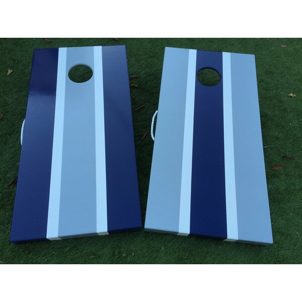 Classic Striped 10 Piece Comhole Set by West Georgia Cornhole