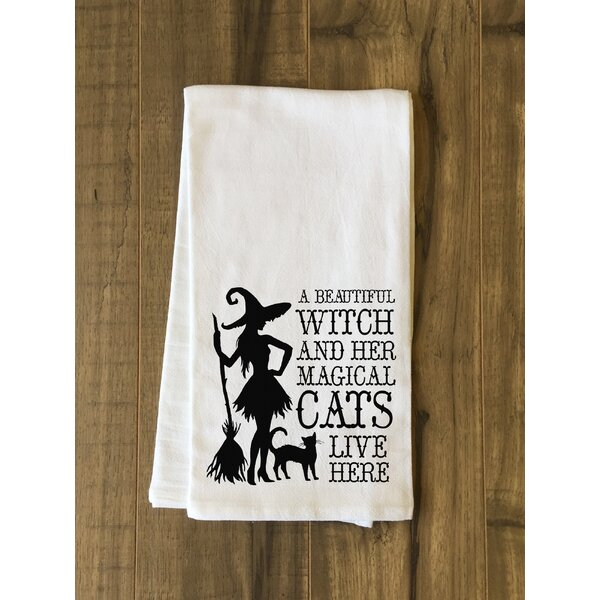 Beautiful Witch Tea Towel by The Holiday Aisle