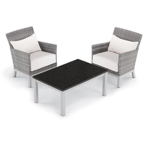 Saleem 3 Piece Rattan Sectional Set with Cushions by Brayden Studio Brayden Studio
