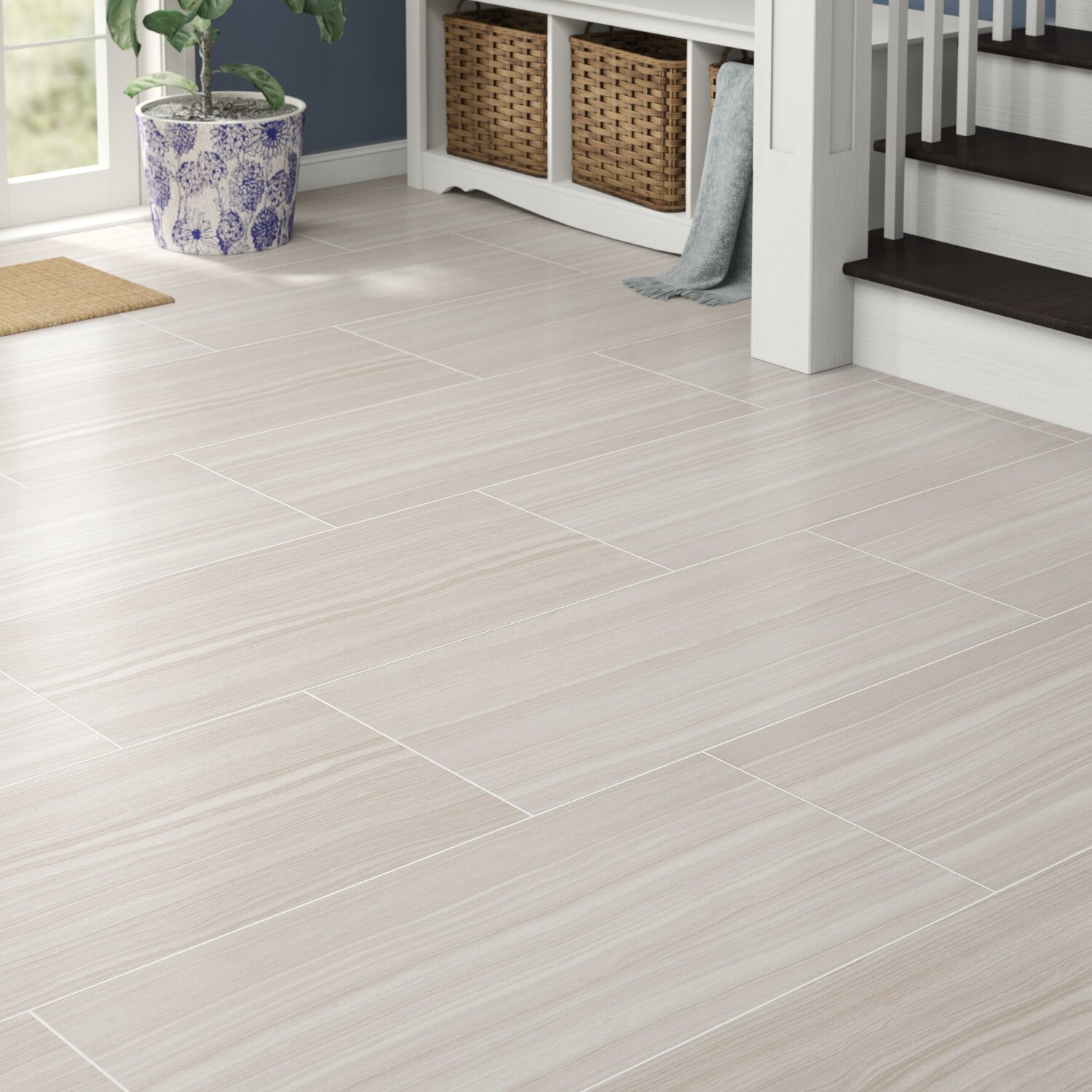 Porcelain Field Tile In Azul