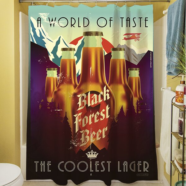 Black Forest Beer Shower Curtain by Manual Woodworkers & Weavers