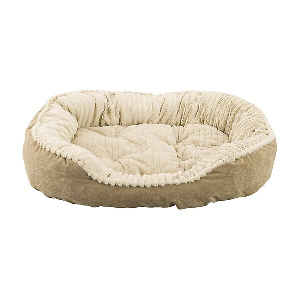 Sleep Zone Carved Plush Dog Bed by Ethical Pet