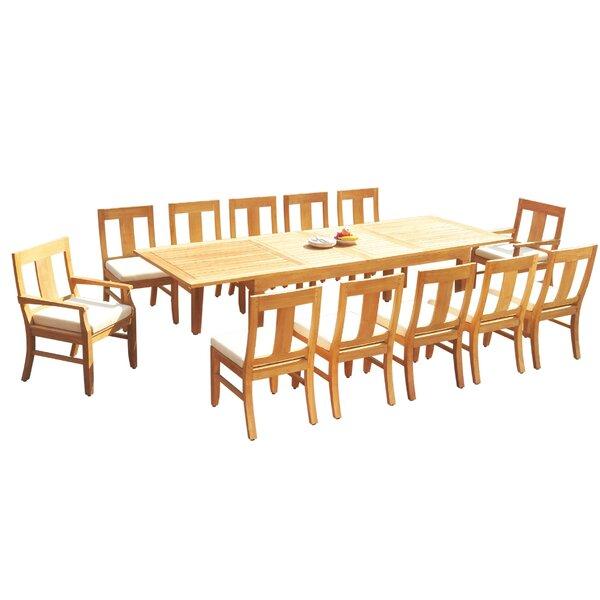 Efren 13 Piece Teak Dining Set