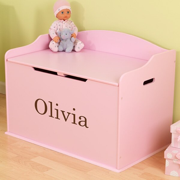 Personalized Austin Pink Toy Box by KidKraft