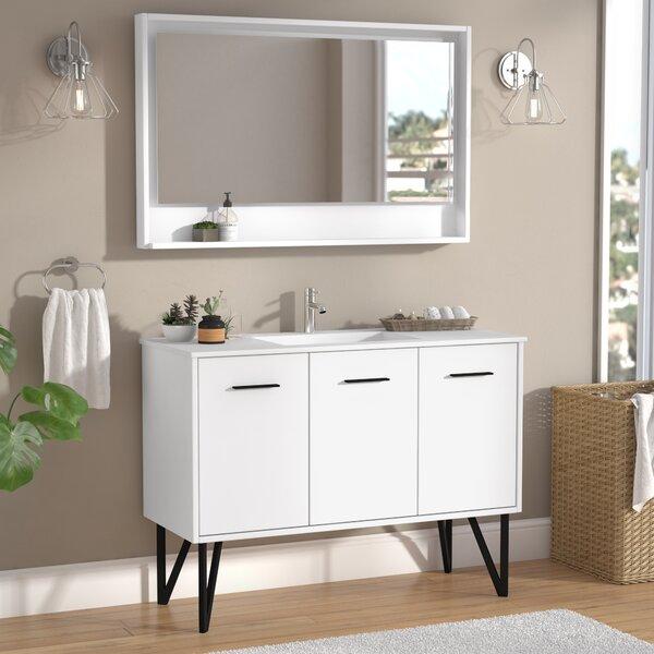 Almaraz 47 Single Bathroom Vanity Set with Mirror by Langley Street
