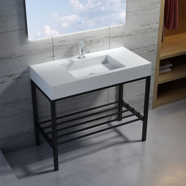 Wolkeseiben Stone 39 Console Bathroom Sink by InFurniture