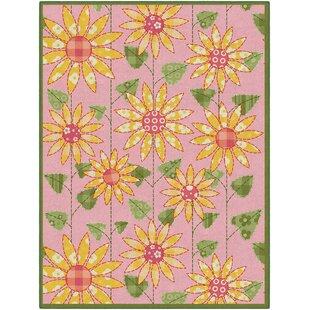 Poppy flower rug wayfair olney flower pinkorange area rug mightylinksfo