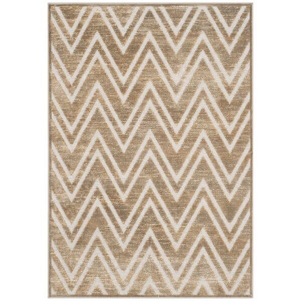 Gabbro Mouse / Cream Area Rug by Mercer41